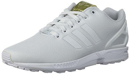 adidas Originals Damen ZX Flux W, Weiß/Weiß/Metallic Gold, 36.5 EU