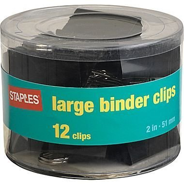 Staples Metal Binder Clips, Large (10669)