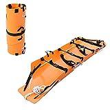 滑車付き多機能折りたたみストレッチャー、転がしやすい災害救助、消防、設置型送信バックパック