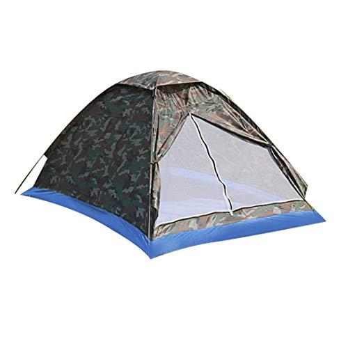 XINFULUK Single Layer 2 Personen wasserdichte Camouflage Camping Wandern Zelt Leichte Outdoor Strand Reise Picknick Angeln Zelt - Camouflage