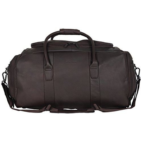 Kenneth Cole Reaction Duff Guy Colombian Leather 20' Single Compartment Top Load Travel Duffel Bag, Brown