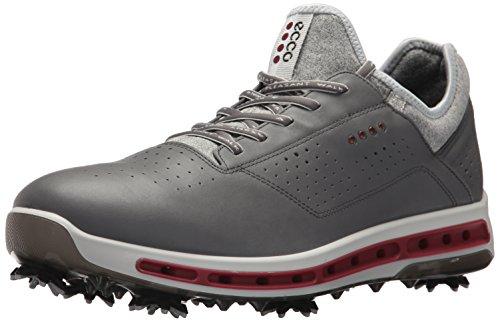 ECCO Men's Cool 18 Gore-TEX Golf Shoe, Dark Shadow/Black Transparent, 45 M EU (11-11.5 US)