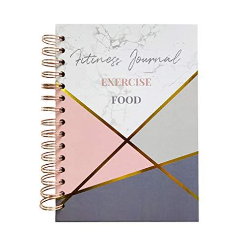 STOBOK Diario de Fitness Planificador de Entrenamiento Cuaderno de Gimnasio Libro de Registro de Ejercicios para Hombres Y Mujeres