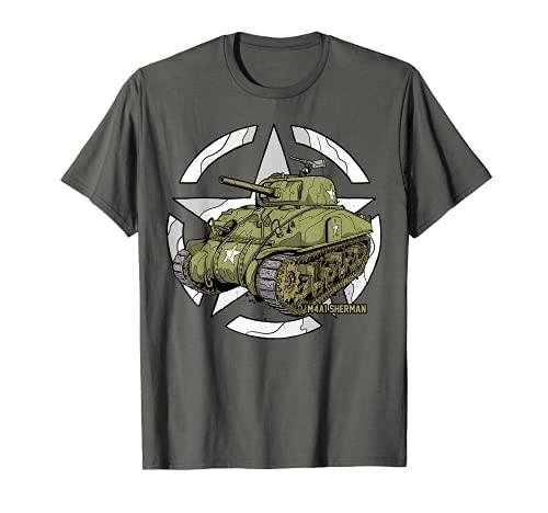 Sherman M4A1 WWII Army Tank History Vintage T-Shirt