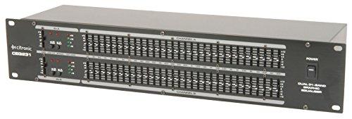 QTX EQ231 Ecualizador gráfico de 31 bandas y 2 canales
