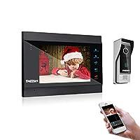 TMEZON 7 Pulgadas WiFi Inteligente IP Video Sistema de intercomunicación de teléfono de Puerta Sistema de Entrada de Timbre