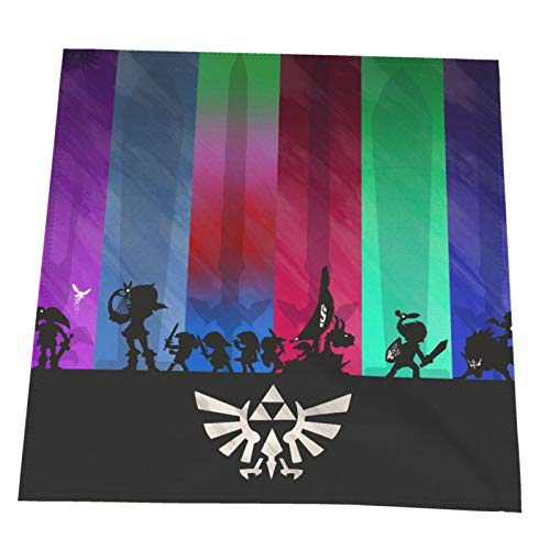 LAOLUCKY Zel-da Heroes - Servilletas de tela espada, suaves, ligeras, reutilizables, juego de 2 toallas para almuerzo familiar, mesa de comedor, boda o cocina