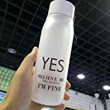 CNBB Wind Milu Botella De Agua Gradient Dream Botella De Agua Esmerilada Translúcida Space Plastic Letter Cup Student Gift