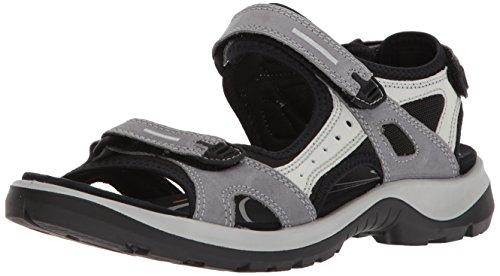 ECCO Damen OFFROAD Flat Sandal, Grau (TITANIUM), 39 EU