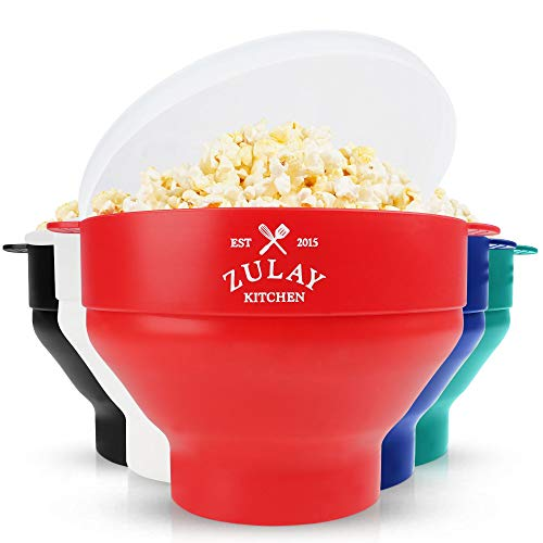 Zulay Kitchen Microwave Popcorn Popper Collapsible