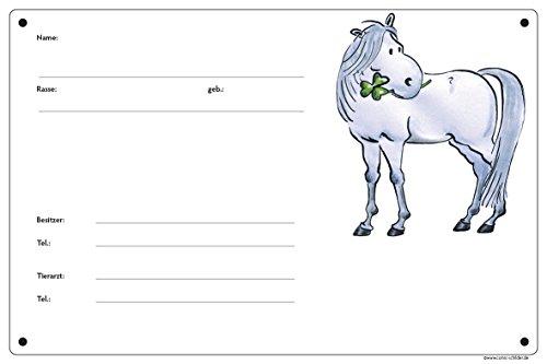 Boxenschild/Stalltafel Connemara (Connemara/Warmblut/Pony) Schimmel