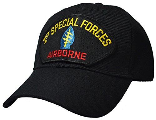 Military Production 1st Special Forces Airborne Cap schwarz
