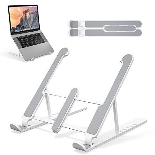 Laptop Ständer, Multi-Stufe Laptop Stand, Tragbar Höhenverstellbarer Belüfteter Notebook Ständer Kompatibel mit Laptop (10 ~15.6 inch) MacBook Pro/Air, HP, Dell, Lenovo, Samsung, Acer, Huawei