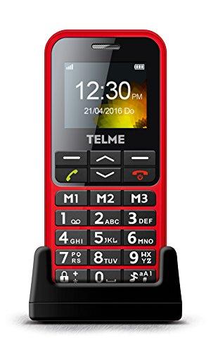 Emporia TELME C151 (Extragroße beleuchtete Großtastenhandy) Rot