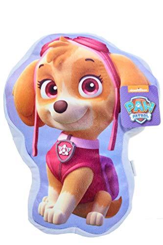 Nickelodeon Paw Patrol Skye 3D kussen pluche knuffelkussen decoratief kussen 36 x 28 cm