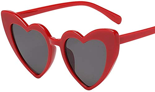 XGBDTJ Damen Retro Übertrieben Sonnenbrille In Herzform Mode Living Elegant Integrierte Uv-Gläser Klassisch Damen Polarisierte Sonnenbrille Strand Urlaub Farbverlauf Brille (Color : D, Size : Size)