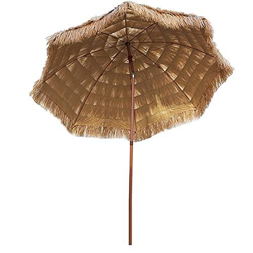 Homfure Sombrilla de Playa Hawaiana Sombrilla de Patio 2.25m,Thatch Patio Tiki Umbrella Tilt 45° Waterproof Sun Shade for Pool Balcony Patio Outdoor Umbrella