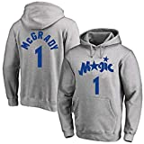 DHDFS Sudadera con capucha para hombre Tracy McGrady #1 Basketball Orlando Magic Jersey con capucha Street Sports Shirt Chaqueta Casual Workout Jersey - Gris