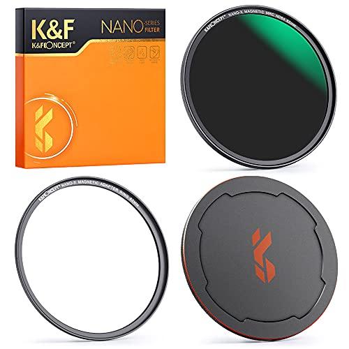 K&F Concept Magnetic ND Filter Magnetischer Graufilter ND64 (6 Blendenstufen) Schnellwechselsystem mit Objektivadapter-62mm