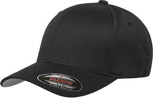 Flexfit Herren Men's Athletic Baseball Fitted Cap Kappe, schwarz, S/M
