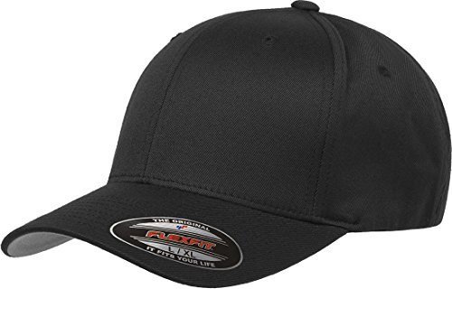 Flexfit 6277 Wooly Combed Twill Cap Black