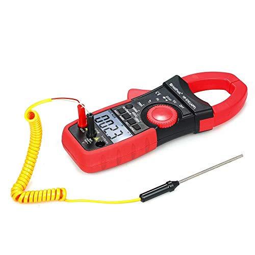 FYYONG Multimetro pinza - Resistenza digitale Multimetro pinza Auto Gamma Bt tester del morsetto di corrente AC DC Amperaggio Tensione Temp elettrico Tester con display retroilluminato Contin