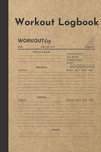 Workout Logbook: Home Gym Fitness Journal For Goal Setting And Exercise Tracking Logs (Krafty Logs Collection)