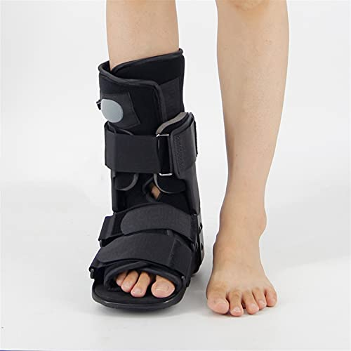 HZYAN Walker Brace Sheast Zapatos de Aire Cortos Bolsas de Aire Cortas Aquiles Tendón Ruptura Postoperatorio Rehabilitación Tobillo Fractura Fractura Botas 422 (Color : Black, Size : Large)