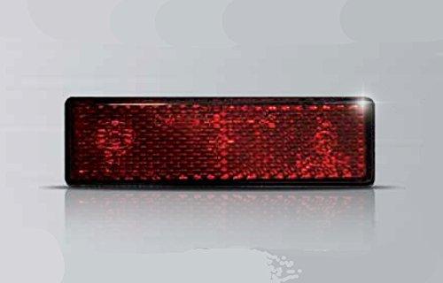 Catarifrangente Catadiottro Omologato Rosso ECIE completo di Bulloni per il fissaggio