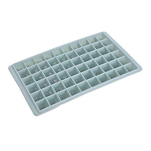 CTOBB 37/60 Grid-Silikon-EIS-Würfel-Behälter mit Deckel Biegsame Eiscreme-Party-Cocktail-Bar EIS-Hersteller-Form Kühlschrank EIS-Form, 60grids blau