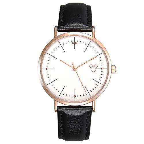 ZZTX FASHION Damen Armbanduhr Frauen Analog Quarz Uhr mit Leder Armband Mode Wasserdicht Uhren Elegante Watch mit Geschenkbox Beste Collection für Mädchen Freundin Ehefrau,Black1