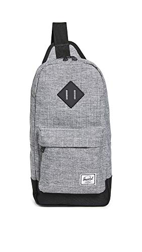 Herschel Heritage Shoulder Bag Backpack, Raven Crosshatch/Black, One Size 8.0L,10728-01132-OS