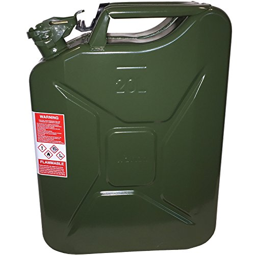 20 Liter (5.2 Gallon) NATO Jerry Can for Gas, Diesel, Kerosense CAN ONLY; NO SPOUT