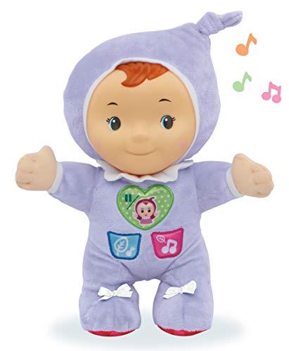 Estela luz de cuna, Suave Peluche Infantil Que Brilla en la Oscuridad para calmar y relajar al bebé a la Hora de conciliar el sueño, más de 70 Canciones, Sonidos y tiernas melodías