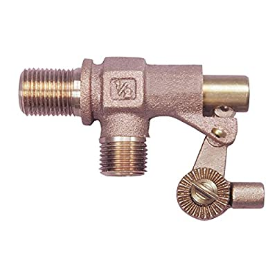 """Watts 1/2 500-TO 1/2"""" Bronze Heavy Duty Float Valve with MNPT Threaded Outlet from Watts"""