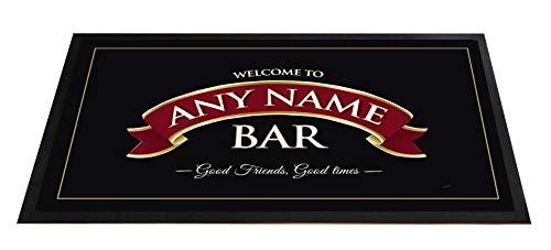 Tapis de comptoir personnalisé pour bar ou pub avec motif ruban rouge