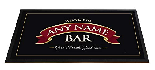 Tappetino da birra, con nastro rosso, per pub, per bancone, personalizzabile