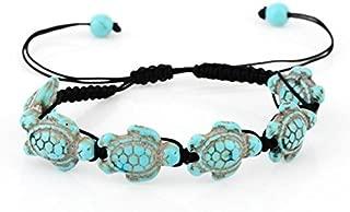 Turtle Hemp Bracelet,Turquoise,Sea Turtles,Handmade, Jamaican Hawaiien Style