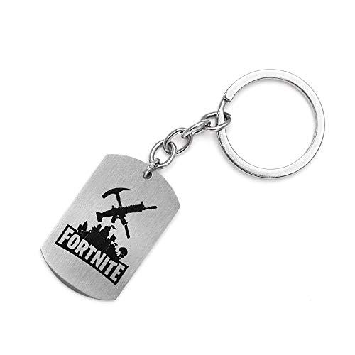 Schlüsselkette, Anhänger-Kette, Edelstahl-Material, Verschiedene Funktionen, schönes Aussehen kleines Geschenk, Schlüsselkette Typ E, 2.5 * 4 * 0.15 dick