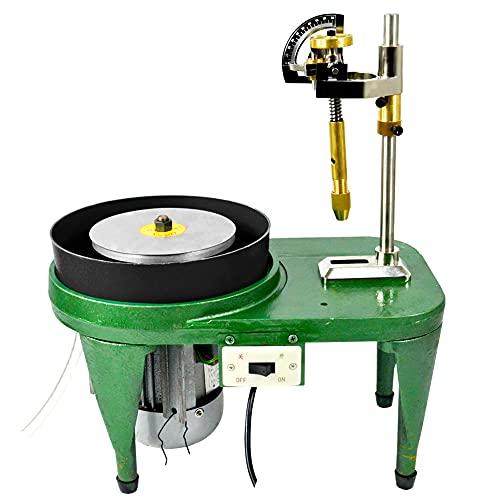Faceting Machine Facer Grinding Polishing Machine Manipulator Milling Tools Gemstone Cutting Tools 180W 110V Flat Lapidary Machine
