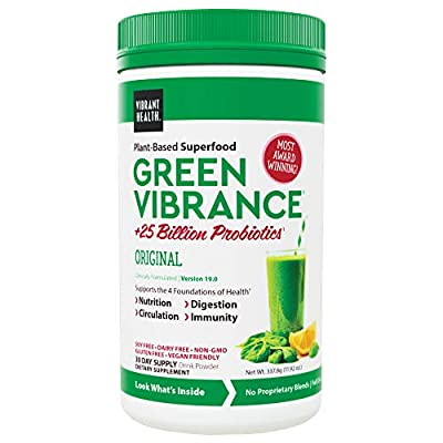Vibrant Health, Green Vibrance, Vegan Superfood Powder, 30 Servings (FFP)