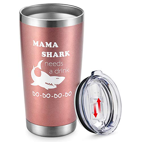 funny stocking stuffer ideas for adults mama shark wine tumbler