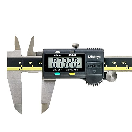 """Mitutoyo 500-196-30 Advanced Onsite Sensor (AOS) Absolute Scale Digital Caliper, 0 to 6""""/0 to 150mm Measuring Range, 0.0005""""/0.01mm Resolution, LCD (2 Pack)"""