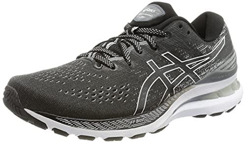 Asics Gel-Kayano 28, Running Shoe Mujer, Black/White, 40 EU