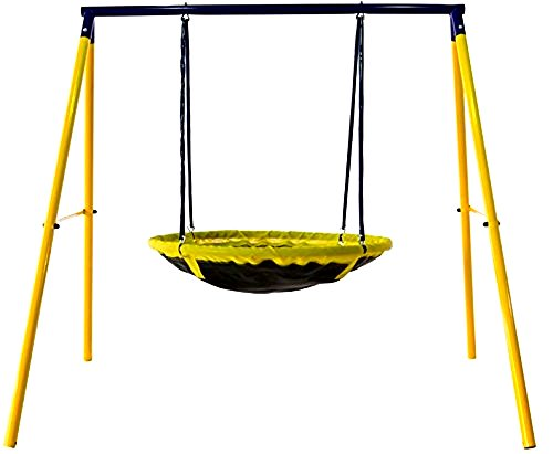 Swing Set Ufo For 1 Or 2 Kids And Toddlers For Fun In Your Backyard ASTM Safety Approved - Skroutz Deals