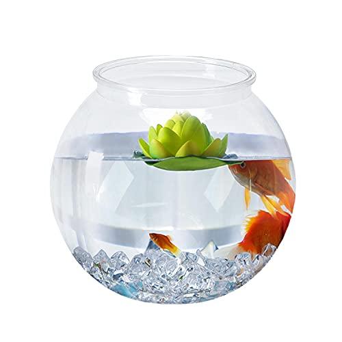 Nobleza - Pecera Globo de Plástico, Ideal para Flores, Peces, Tortugas (20cm)