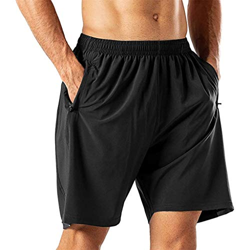 iHHAPY Men's Loose Shorts Casual Athletic Shorts Jersey Short Soft Pants Elastic Waist Perfect for Jogger Sport Gym Walk