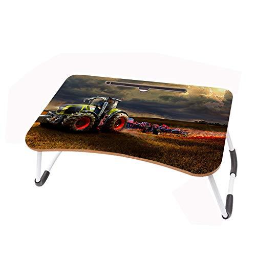 LYWUSUZE Escritorio para Computadora Portátil Campo Y Tractor En Llamas En La Mesa De Lectura del Sofá Cama (60 x 40 cm)