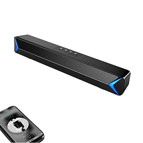 Sound Bar voor TV, Soundbar met ingebouwde subwoofer, Wired & Wireless Bluetooth 5.0 Speaker voor TV, HDMI/Optical/AUX/USB-ingang, Surround Sound System voor TV
