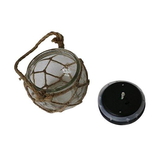 Sharplace 3x lámpara de Mesa Linterna de Techo Luminosa Solar de Techo de Cristal